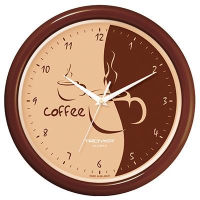 Часы настенные Troyka, цвет: коричневый. 2123428021234280Настенные кварцевые часы Troyka в классическом стиле, изготовленные из пластика, прекрасно подойдут под интерьер вашего дома. Круглые часы имеют три стрелки: часовую, минутную и секундную, циферблат защищен прозрачным пластиком. Диаметр часов: 24,5 см. Часы работают от 1 батарейки типа АА напряжением 1,5 В. Внимание! Часы укомплектованы бесплатным тестовым элементом питания для обеспечения их работоспособности при предпродажной подготовке и демонстрации рабочих функций.