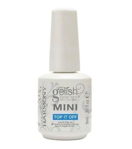 Gelish Mini Финиш-гель классический (3 фаза), 9 мл04001Этот гель является третьей фазой при работе с системой Gelish. Легко удаляется при помощи препарата Soak Off Artifical Nail Remover, держится на ногтях до трех недель.