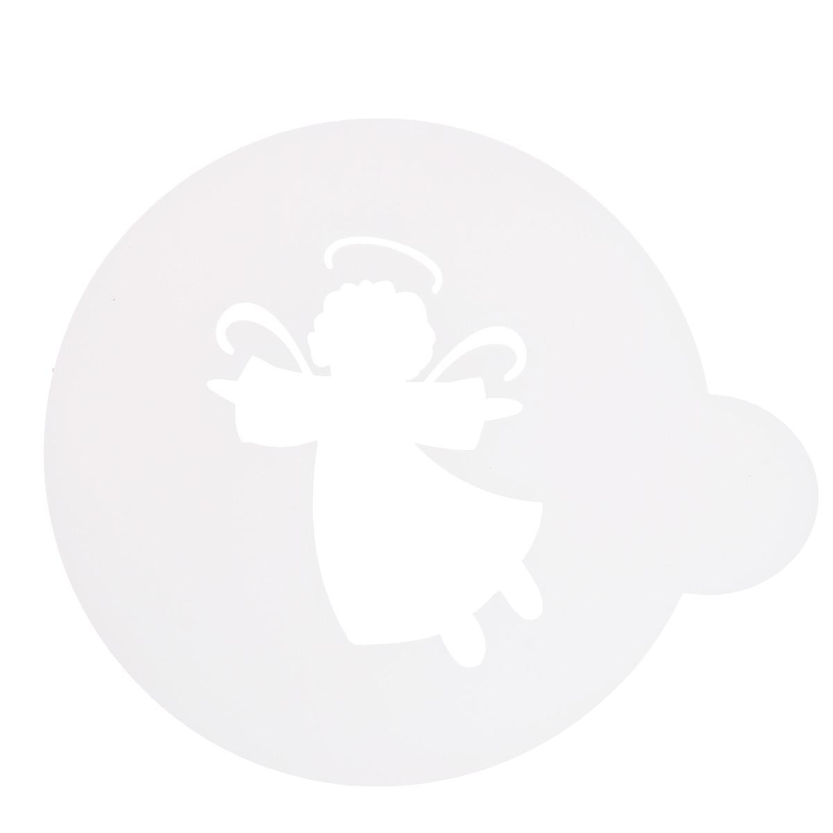 Трафарет на кофе и десерты Леденцовая фабрика Ангел, диаметр 10 см трафарет на кофе и десерты леденцовая фабрика кошка с рыбой диаметр 10 см