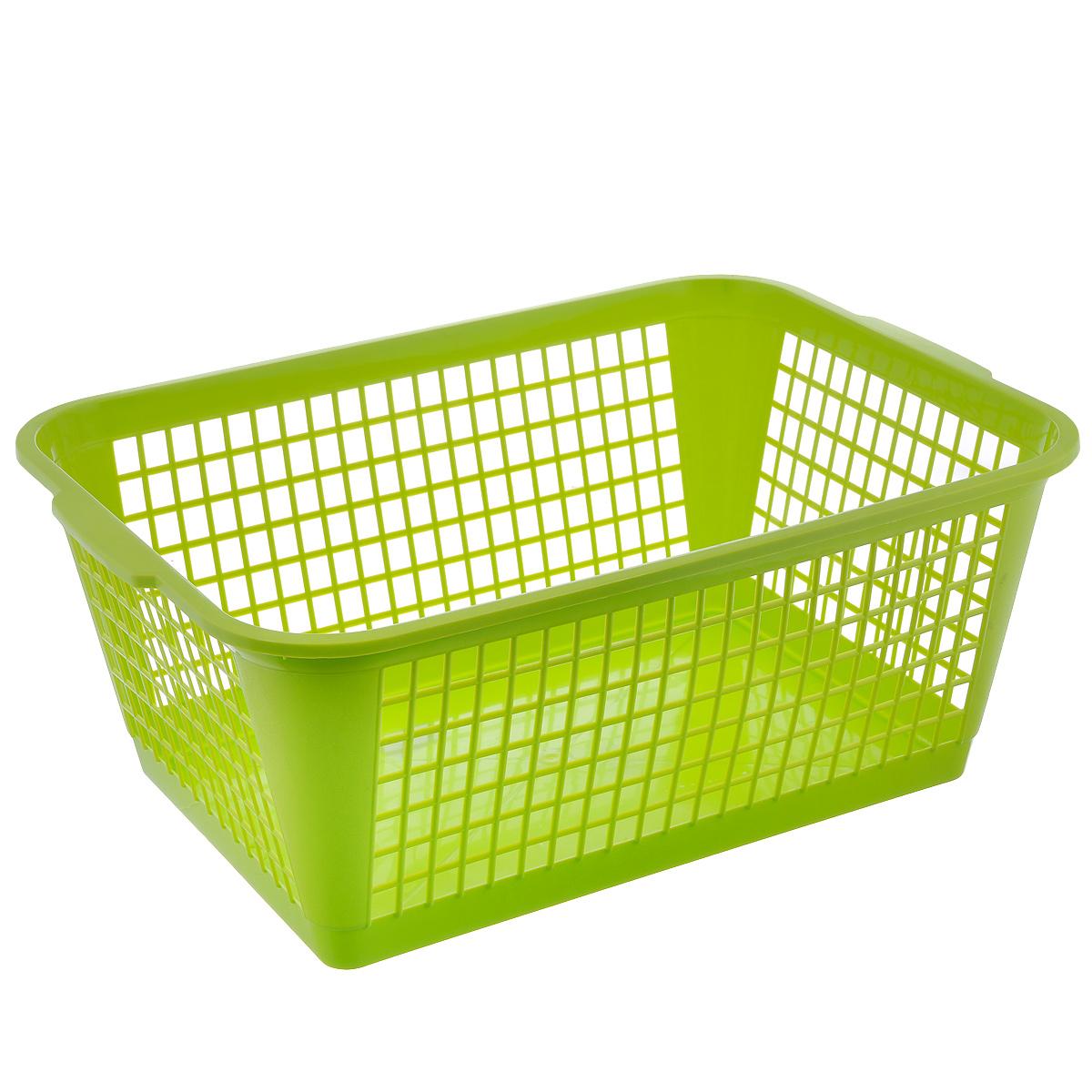 Корзина Gensini, цвет: салатовый, 50 лZ-0307Универсальная корзина Gensini, выполненная из полипропилена, предназначена для хранения мелочей в ванной, на кухне, даче или гараже. Позволяет хранить мелкие вещи, исключая возможность их потери. Легкая воздушная корзина с жесткой кромкой, с узором из отверстий в форме прямоугольников.