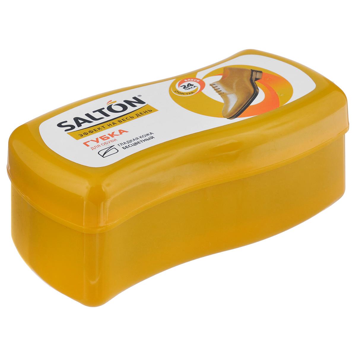 Губка Salton Волна для обуви из гладкой кожи, цвет: бесцветный, 12 см х 5,5 см х 5,5 см262586061Губка Salton Волна с норковым маслом предназначена для ухода за обувью из гладкой кожи, она придает ей естественный блеск. Не использовать для замши, нубука и текстиля. Размер: 12 см х 5,5 см х 5,5 см. Состав: пенополиуретан, силиконовое масло, норковое масло, воск, ланолин, отдушка. Товар сертифицирован.