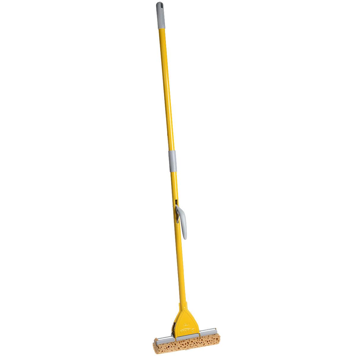 Швабра Apex Minor, с отжимом, цвет: желтый, серый, 25 см10501-A_серыйШвабра Apex Minor предназначена для уборки в доме. Насадка, изготовленная из поролона, крепится к стальной трубке. Насадка имеет специальную форму, которая позволяет легко и качественно мыть полы. Специальная система отжима позволяет отжимать воду более эффективно, чем вручную. Ширина рабочей поверхности: 25 см. Длина ручки: 130 см.
