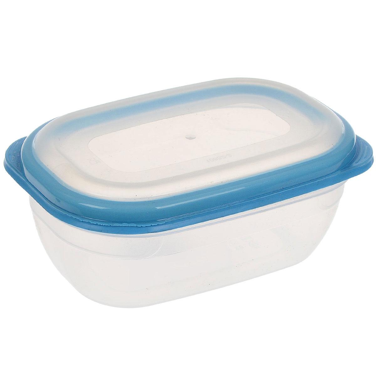 Контейнер для СВЧ Полимербыт Премиум, цвет: прозрачный, голубой, 0,5 лС560_голубойПрямоугольный контейнер для СВЧ Полимербыт Премиум изготовлен из высококачественного прочного пластика, устойчивого к высоким температурам (до +110°С). Крышка плотно и герметично закрывается, дольше сохраняя продукты свежими и вкусными. Контейнер идеально подходит для хранения пищи, его удобно брать с собой на работу, учебу, пикник или просто использовать для хранения пищи в холодильнике. Подходит для разогрева пищи в микроволновой печи и для заморозки в морозильной камере (при минимальной температуре -40°С). Можно мыть в посудомоечной машине.