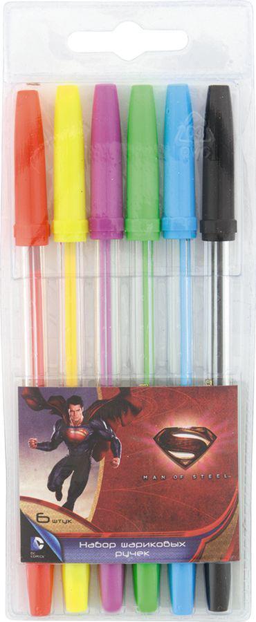 Набор ручек шариковых 06 шт.(06 цветов) Proff. Супермен в блистерной упаковке с европодвесомSU15-BP06