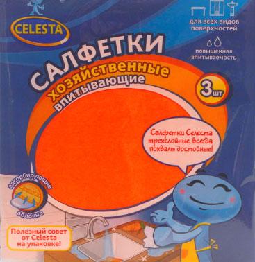 Набор хозяйственных салфеток Celesta Safari, впитывающие, 3 шт323 TНабор Celesta Safari состоит из трех высококачественных трехслойных салфеток, предназначенных для влажной и сухой уборки. Они качественно очищают любые поверхности и превосходно впитывают влагу. Салфетки не оставляют ворсинок и разводов, отлично поглощают пыль и грязь. Долговечны в эксплуатации. Характеристики: Материал: целлюлоза, пенополиуретан. Размер: 15 см х 17 см. Комплектация: 3 шт. Производитель: Россия. Артикул: 323 T.