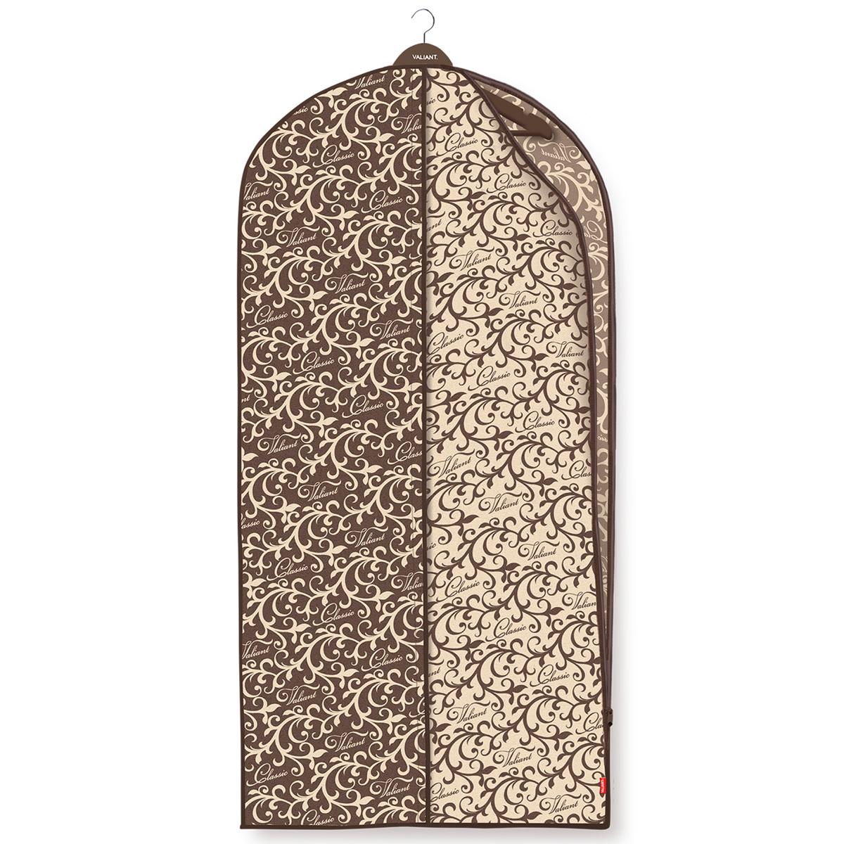 Чехол для одежды Valiant Classic, с боковой молнией, 60 см х 137 смES-412Чехол для одежды Valiant Classic изготовлен из высококачественного нетканого материала (спанбонда), который обеспечивает естественную вентиляцию, позволяя воздуху проникать внутрь, но не пропускает пыль. Чехол очень удобен в использовании. Специальная прозрачная вставка позволяет видеть содержимое чехла, не открывая его. Застежка-молния расположена в боковом шве, что обеспечивает легкий доступ к содержимому. Чехол идеально подойдет для транспортировки и хранения одежды. Изысканный дизайн Classic Collection придется по вкусу ценителям классического стиля, он гармонично вписывается в современный классический гардероб.Системы хранения в едином дизайне сделают вашу гардеробную красивой и невероятно стильной.
