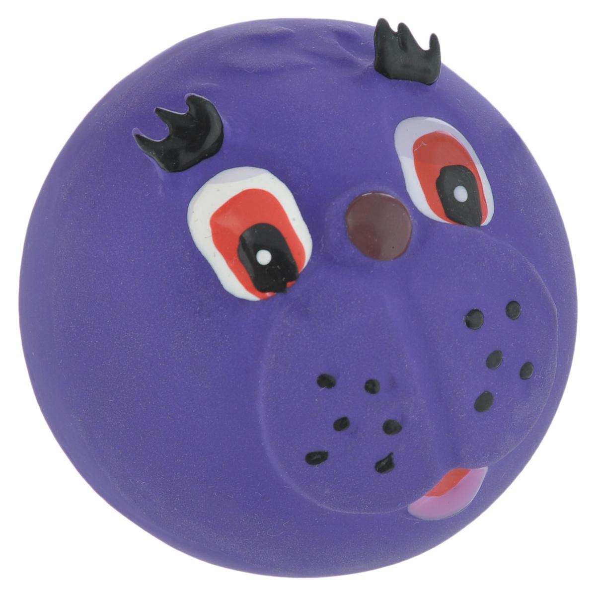 Игрушка для собак I.P.T.S. Мяч с мордочкой, цвет: фиолетовый, диаметр 7 см620560_фиолетовыйИгрушка для собак I.P.T.S. Мяч с мордочкой, изготовленная из высококачественного латекса, выполнена в виде мячика с милой мордочкой. Такая игрушка порадует вашего любимца, а вам доставит массу приятных эмоций, ведь наблюдать за игрой всегда интересно и приятно. Оставшись в одиночестве, ваша собака будет увлеченно играть. Диаметр: 7 см.