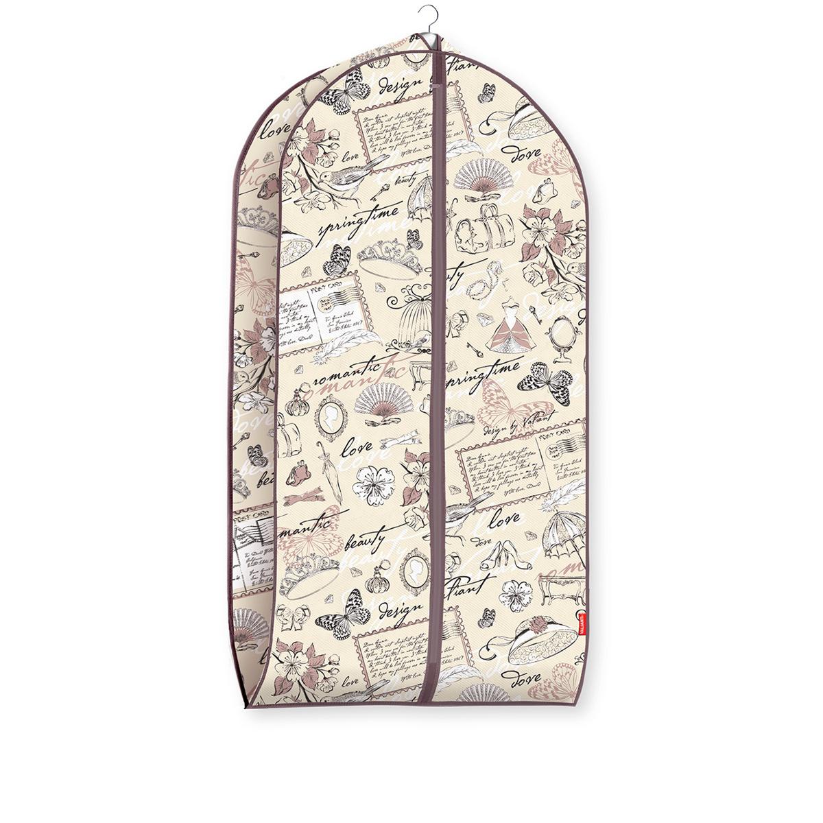 Чехол для одежды Valiant Romantic, объемный, 60 х 100 х 10 смS03301004Чехол для одежды Valiant Romantic изготовлен из высококачественного нетканого материала (спанбонда), который обеспечивает естественную вентиляцию, позволяя воздуху проникать внутрь, но не пропускает пыль. Чехол очень удобен в использовании. Наличие боковой вставки увеличивает объем чехла, что позволяет хранить крупные объемные вещи. Чехол легко открывается и закрывается застежкой-молнией. Идеально подойдет для транспортировки и хранения одежды. Система хранения Romantic создаст трогательную атмосферу романтического настроения в женском гардеробе. Оригинальный дизайн придется по вкусу ценительницам эстетичного хранения. Системы хранения в едином дизайне сделают вашу гардеробную изысканной и невероятно стильной.