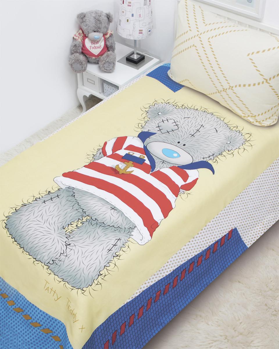 Комплект белья Mona Liza Teddy морячок (детский 1,5-спальный, бязь, наволочка 50x70), цвет: желтый. 521404521404
