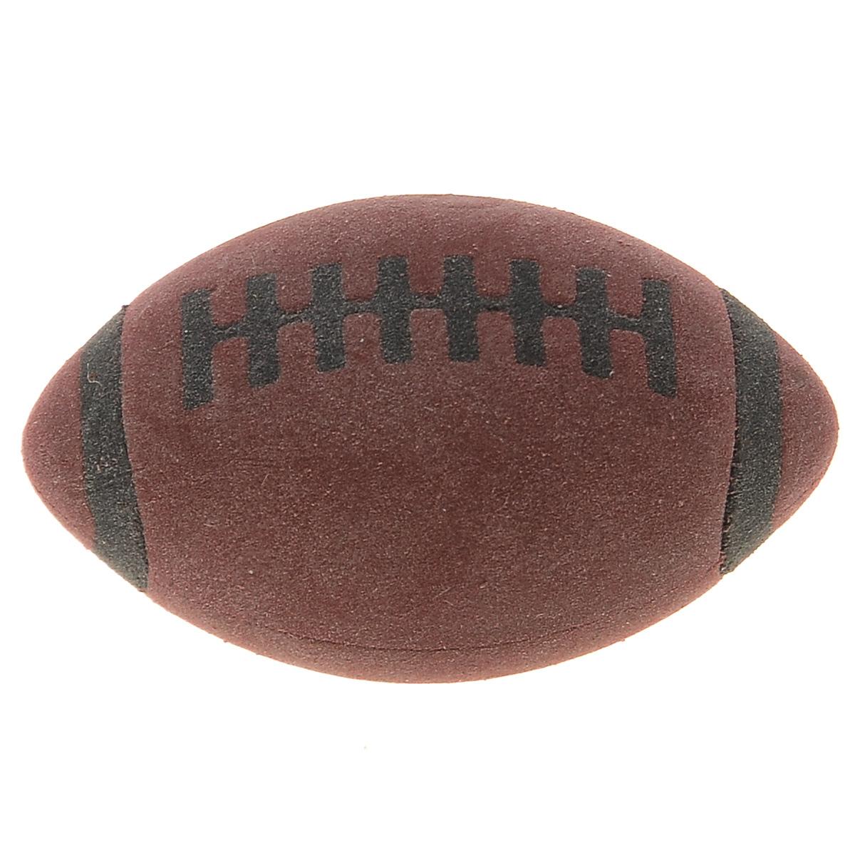 Brunnen Ластик Мяч для регби, цвет: коричневыйFS-36054Ластик Мяч для регби станет незаменимым аксессуаром на рабочем столе не только школьника или студента, но и офисного работника. Он легко и без следа удаляет надписи, сделанные карандашом. Ластик имеет форму и окраску в стиле мяча для регби, поэтому его очень удобно держать в руке.