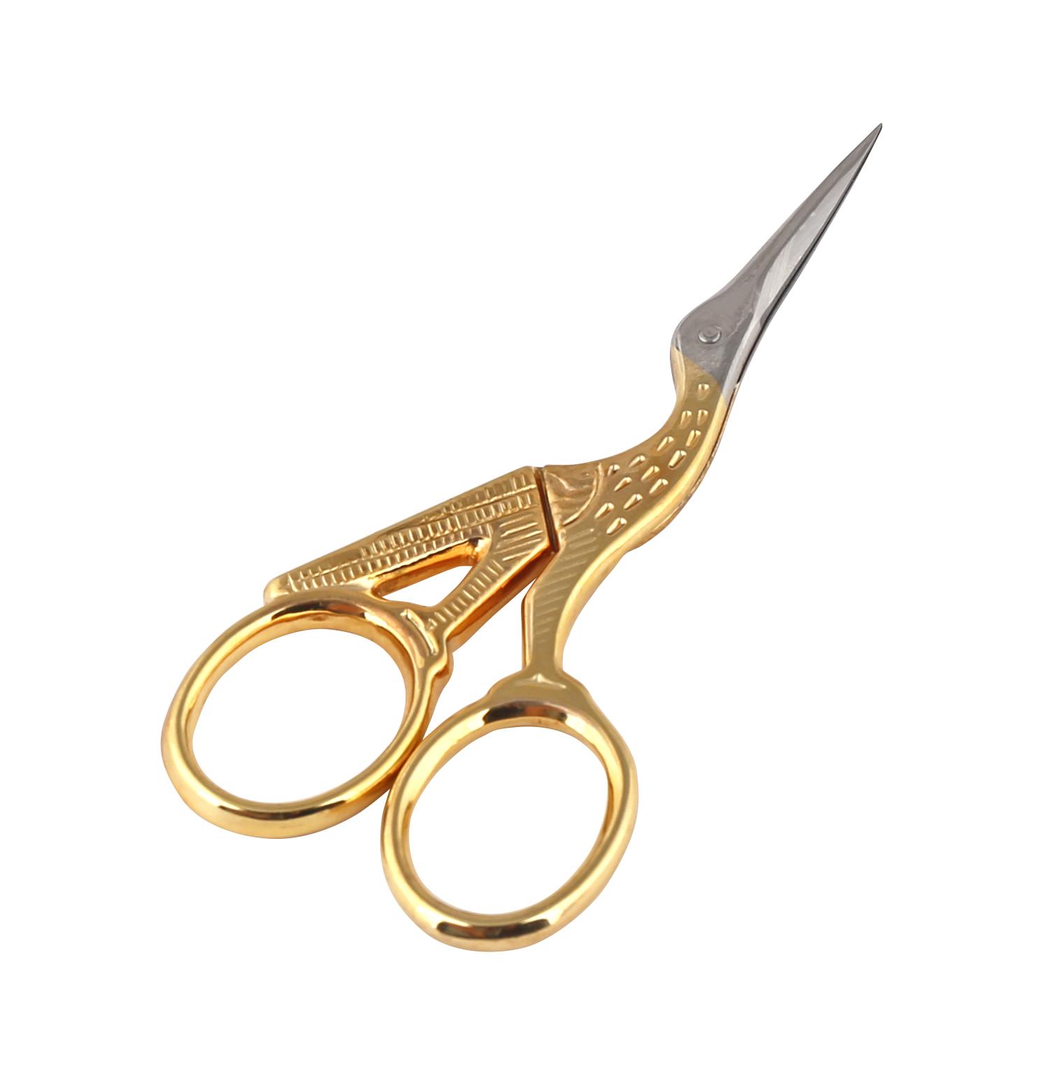 """Ножницы вышивальные Premax """"Цапельки"""", цвет: золотистый, длина 9,3 см Premax F 7125D (3,5"""") ножницы"""