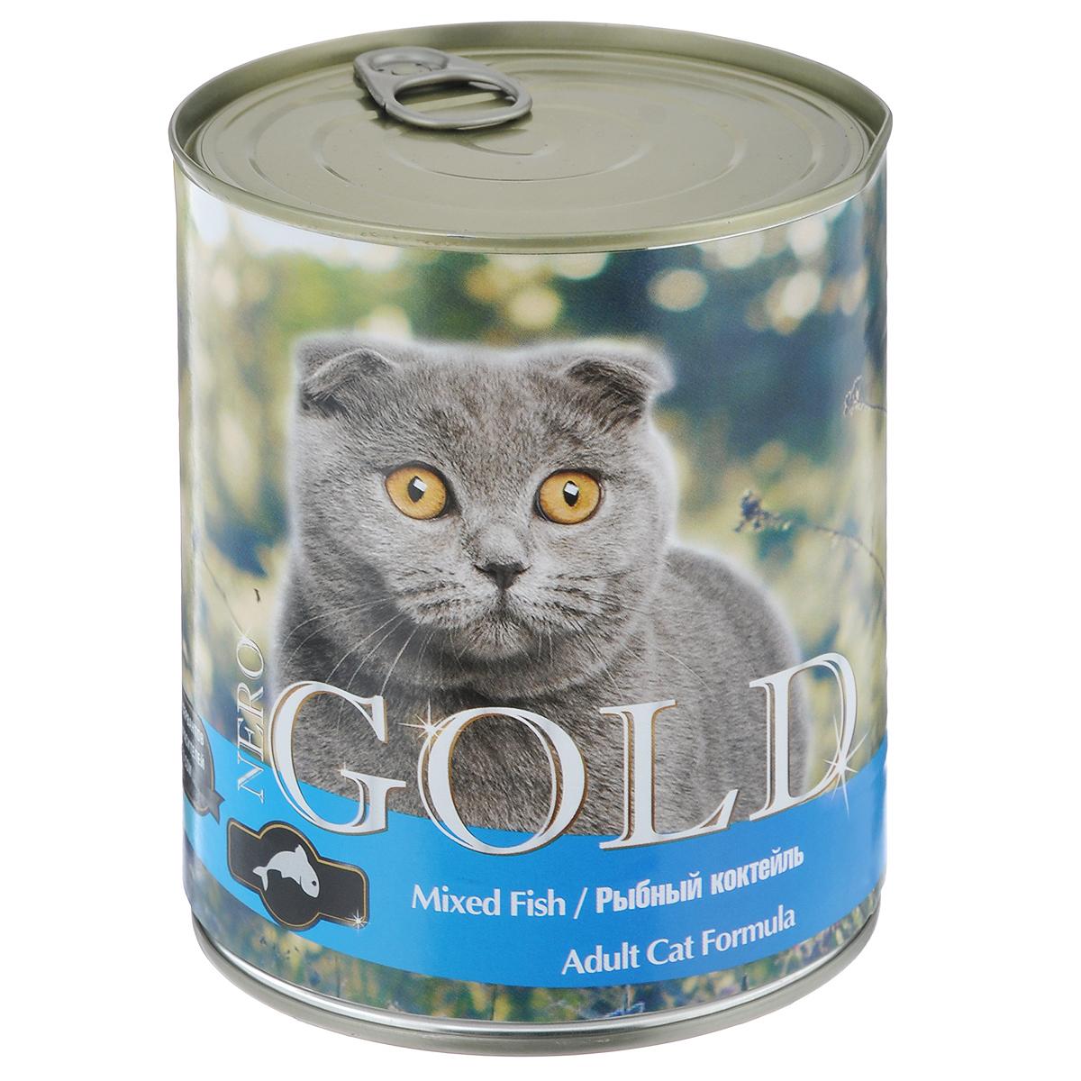 Консервы для кошек Nero Gold, рыбный коктейль, 810 г20255Консервы для кошек Nero Gold - полнорационный продукт, содержащий все необходимые витамины и минералы, сбалансированный для поддержания оптимального здоровья вашего питомца! Состав: мясо и его производные, филе курицы, филе рыбы, злаки, витамины и минералы. Гарантированный анализ: белки 6%, жиры 4,5%, клетчатка 0,5%, зола 2%, влага 81%. Пищевые добавки на 1 кг продукта: витамин А 1600 МЕ, витамин D 140 МЕ, витамин Е 10 МЕ, таурин 300 мг, железо 24 мг, марганец 6 мг, цинк 15 мг, медь 1 мг, магний 200 мг, йод 0,3 мг, селен 0,2 мг. Вес: 810 г. Товар сертифицирован.
