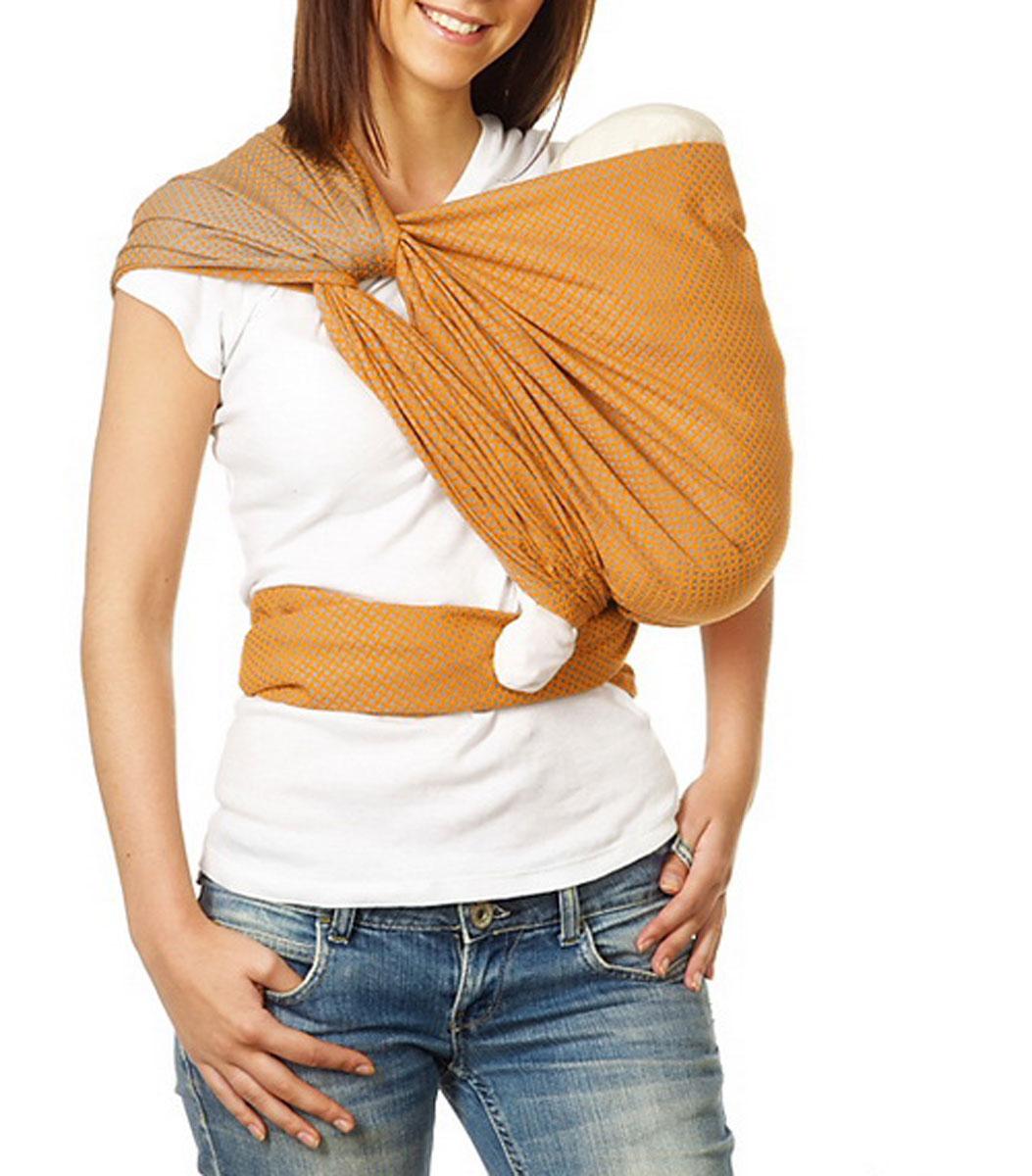 """Слинг-шарф Mum's Era """"Нордик"""", цвет: мандарин. Размер M 6698"""