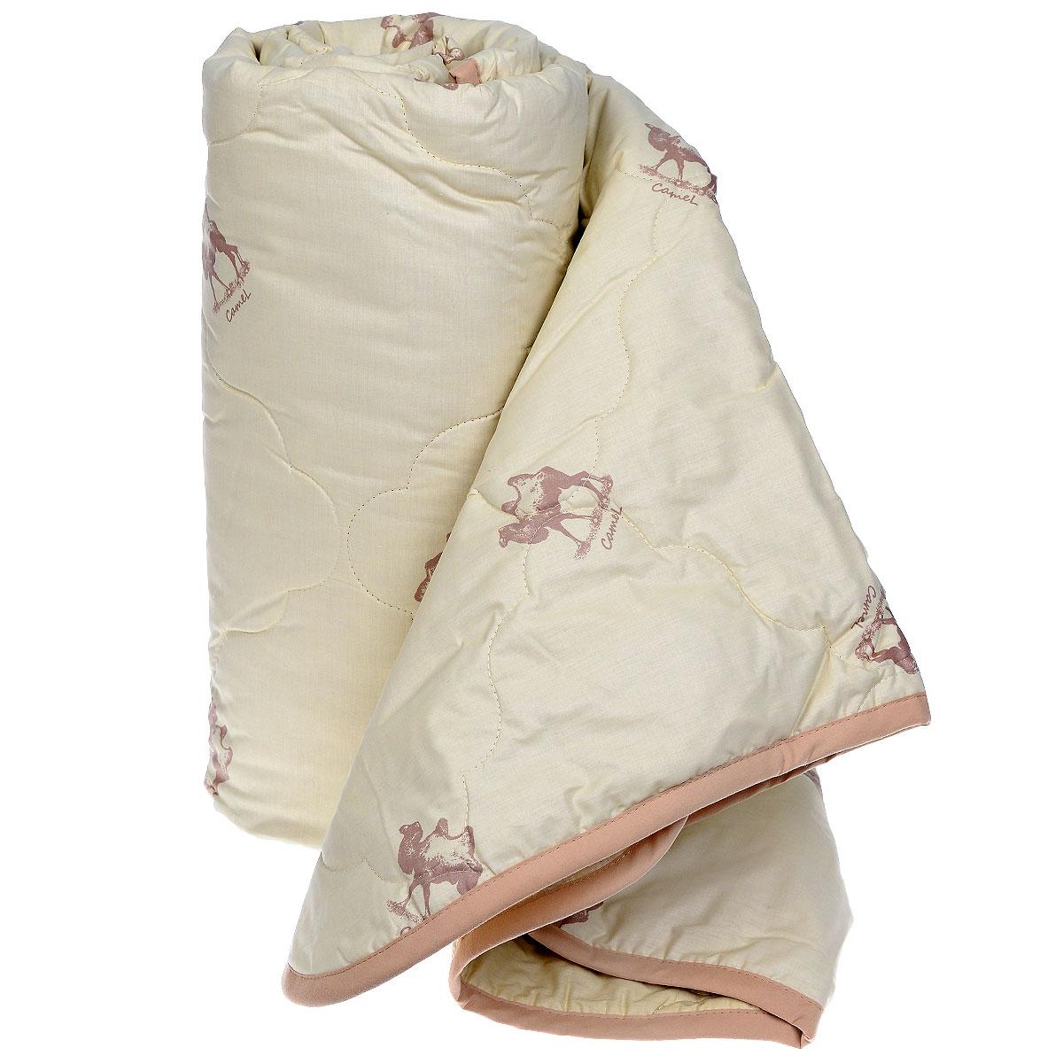 Одеяло Sova & Javoronok, наполнитель: верблюжья шерсть, цвет: бежевый, 140 х 205 см05030116079Чехол одеяла Sova & Javoronok выполнен из высококачественного плотного материала тик (100% хлопок). Наполнитель одеяла изготовлен из верблюжьей шерсти. Стежка надежно удерживает наполнитель внутри и не позволяет ему скатываться. Особенности наполнителя: - исключительные терморегулирующие свойства; - высокое качество прочеса и промывки шерсти; - великолепные ощущения комфорта и уюта. Верблюжья шерсть обладает целебными качествами, содержит наиболее высокий процент ланолина (животного воска), который является природным антисептиком и благоприятно воздействует на организм по целому ряду показателей: оказывает благотворное действие на мышцы, суставы, позвоночник, нормализует кровообращение, имеет профилактический эффект при заболевания опорно-двигательного аппарата. Кроме того, верблюжья шерсть антистатична. Шерсть верблюда сохраняет прохладу в период жаркого лета и удерживает тепло во время суровой зимы. Одеяло...