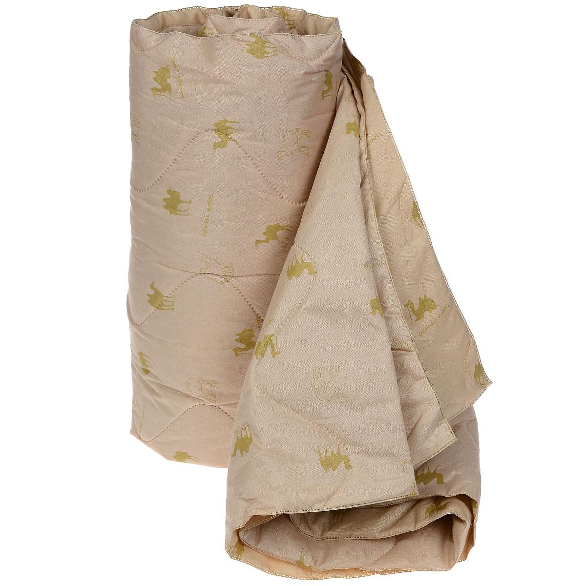Одеяло Подушкино Верблюжье, наполнитель: шерсть, вискоза, 172 х 205 смS03301004Одеяло Подушкино Верблюжье порадует вас своим теплом и качеством!Чехол одеяла изготовлен из инновационного материала - биософт с фигурной безниточной стежкой, наполнитель - 40% верблюжья шерсть и 60% вискоза.Биософт - ткань из полиэстеровой нити с плотной и шелковистой на ощупь структурой. Легко стирается, не деформируется, не садится, быстро сохнет и сохраняет цвет на долгое время. Изделия из этой ткани очень легкие. Верблюжья шерсть давно оценена потребителями за исключительные достоинства, присущие только ей: - оздоравливающие свойства - благодаря содержанию ланолина нейтрализует токсины, улучшает микроциркуляцию кожи, расширяет сосуды, усиливает обмен веществ и помогает избавиться от ревматических болей; - воздухопроницаемость - полая структура волоса позволяет воздуху свободно циркулировать внутри изделий; - гипоаллергенность. Размер одеяла: 172 см х 205 см.