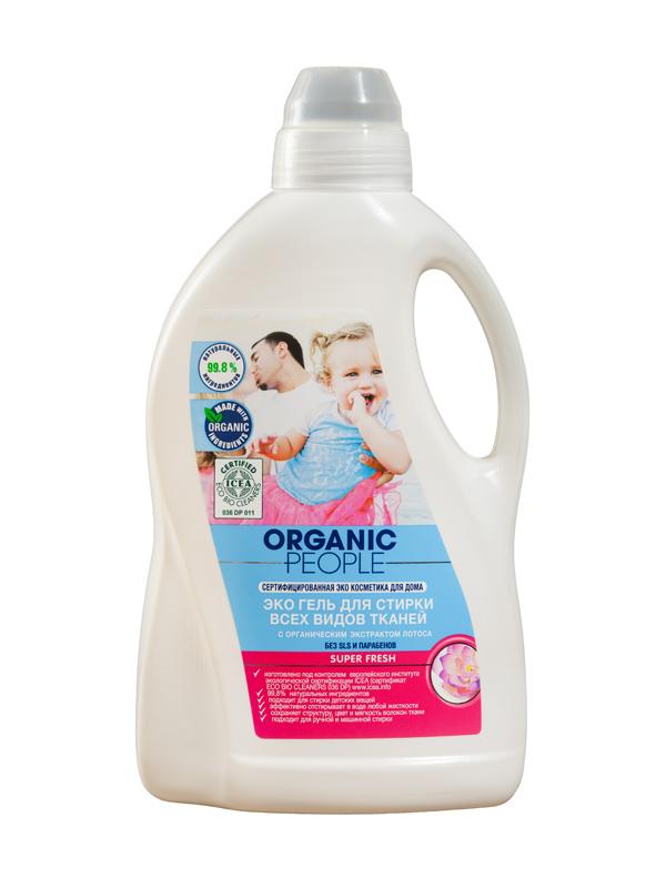 Organic People OP гель Эко для стирки всех видов тканей 1,5 л 071-4-1684