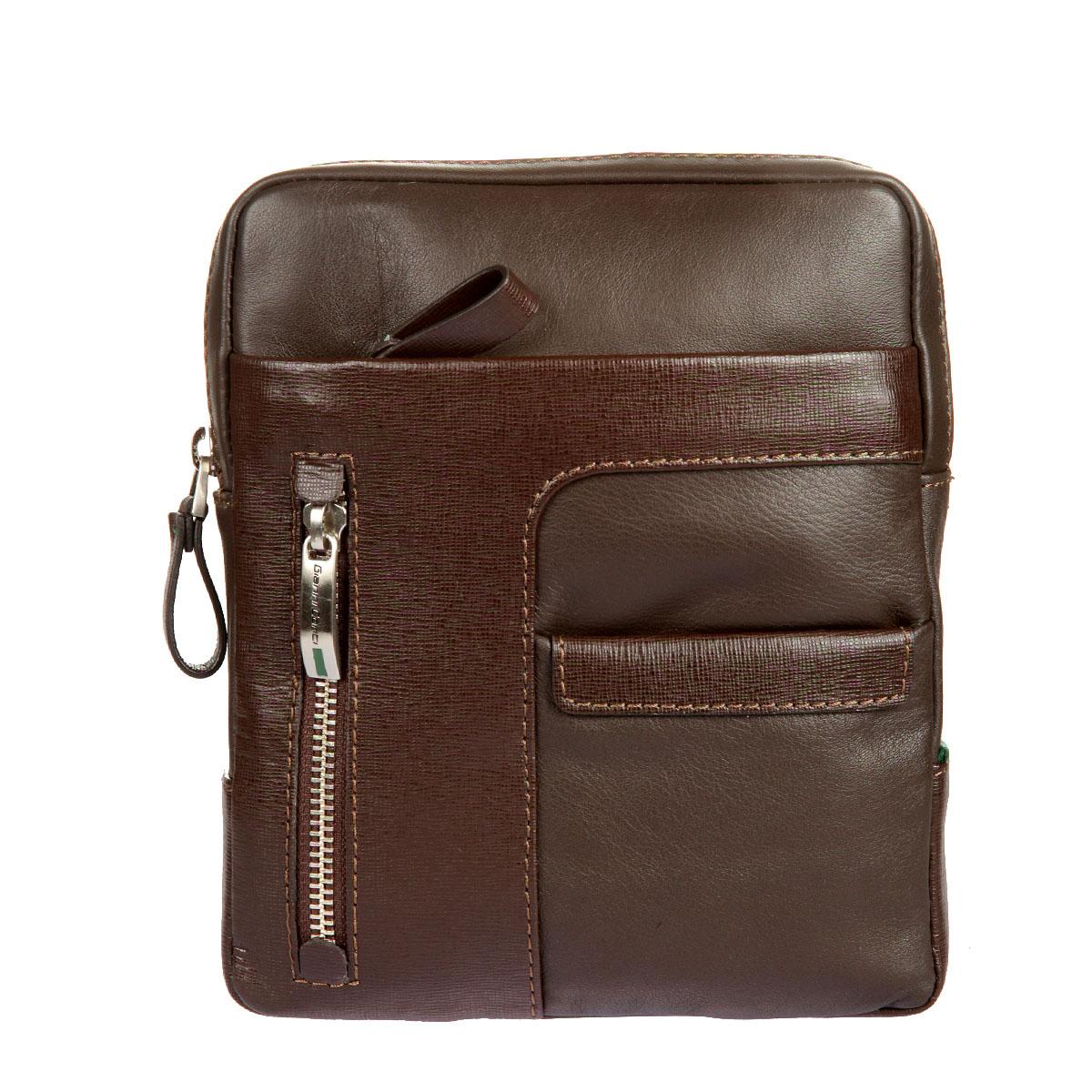 Сумка-планшет мужская Gianni Conti, цвет: темно-коричневый. 17623751762375 dark brownСтильная мужская сумка-планшет Gianni Conti выполнена из высококачественной натуральной кожи. Планшет имеет одно основное отделение, которое закрывается на застежку-молнию. Внутри имеется открытый накладной карман и прорезной карман на застежке-молнии. На внешней передней стороне - два кармана на застежках-молниях и один не большой открытый карманчик. На задней стенке также имеется дополнительный пришивной открытый карман. Сумка оснащена регулируемым плечевым ремнем. Планшет упакован в фирменный чехол. Функциональность, вместительность, качество исполнения и непревзойденный стиль сумки- планшета Gianni Conti, несомненно, понравится любому мужчине.