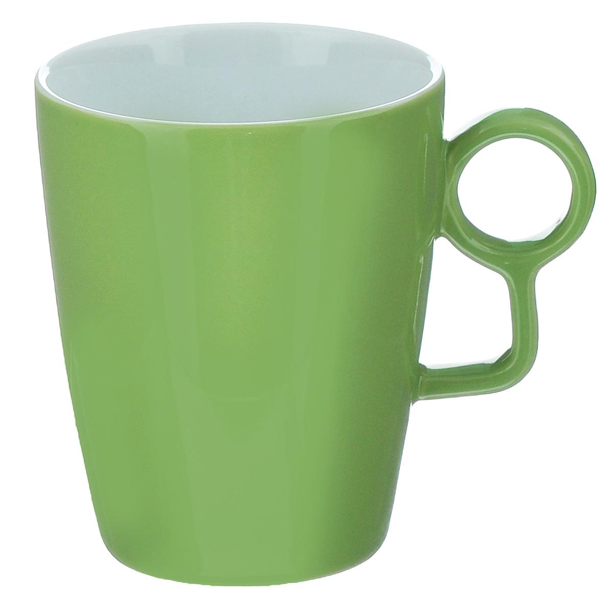 Кружка Sagaform Loop, цвет: зеленый, 250 мл5015911Кружка Sagaform выполнена из высококачественной керамики. Изделие оснащено удобной ручкой. Кружка сочетает в себе оригинальный дизайн и функциональность. Благодаря такой кружке пить напитки будет еще вкуснее. Кружка Sagaform согреет вас долгими холодными вечерами. Можно использовать в посудомоечной машине. Объем: 250 мл. Диаметр (по верхнему краю): 7,5 см. Высота кружки: 10 см.