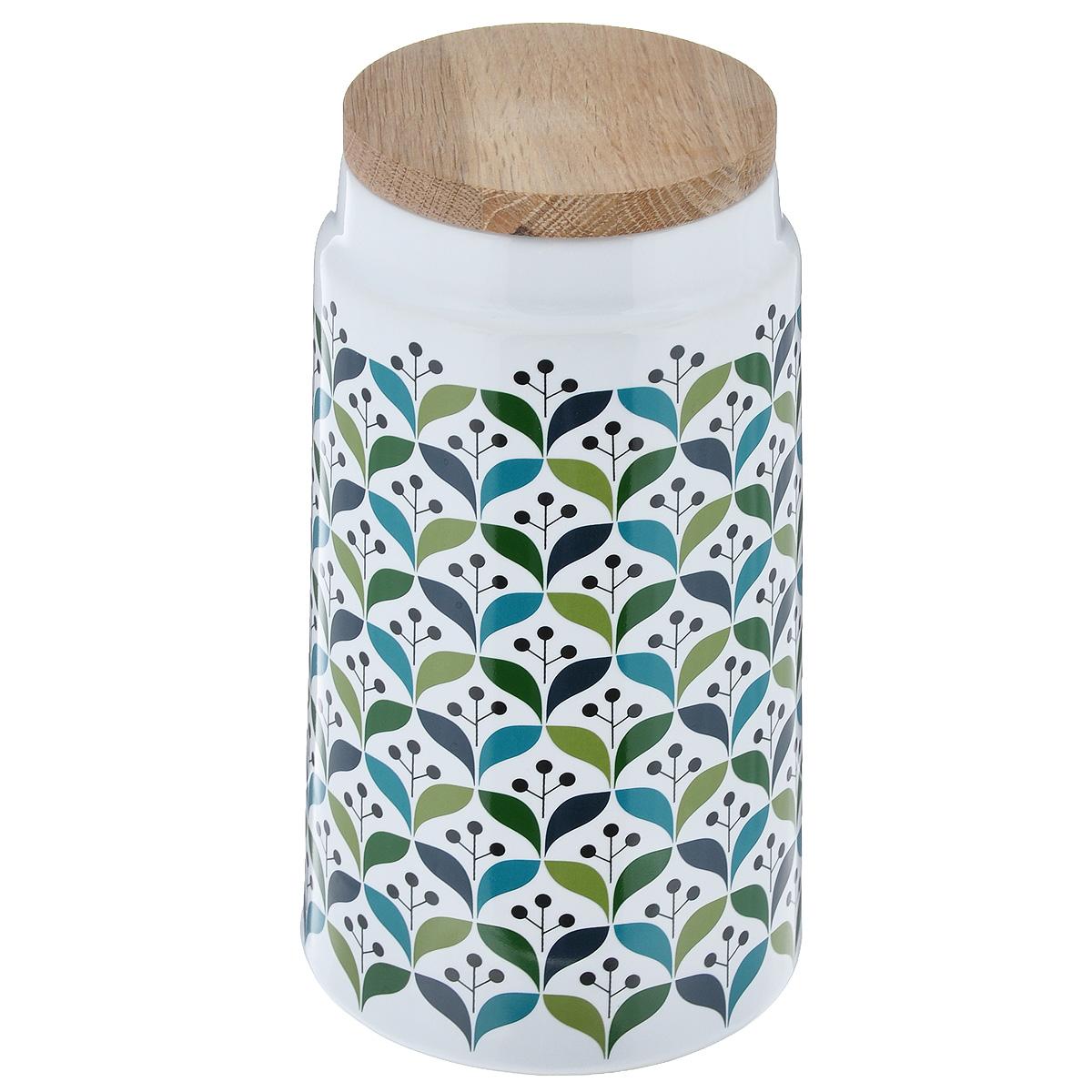 Емкость для хранения Sagaform Retro, 1,3 л5015940Емкость для хранения Sagaform Retro изготовлена из высококачественной глазурованной керамики. Внешние стенки оформлены красивым цветочным рисунком-орнаментом. Изделие предназначено для хранения различных сыпучих продуктов, например, круп, макарон, сахара и т.д. Емкость снабжена деревянной крышкой, которая плотно закрывается, дольше сохраняя продукты свежими. Можно мыть в посудомоечной машине. Диаметр емкости (по верхнему краю): 9 см. Высота емкости: 20 см.