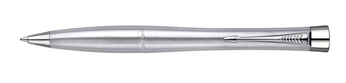 Ручка шариковая URBAN Metro Metallic CT. PARKER-S076712072523WDШариковая ручка Паркер Урбан Стейнлесс Стил Си Ти. Инструмент для письма, линия письма - средняя, цвет чернил синий, в подарочной упаковке. Произведено в Китае.