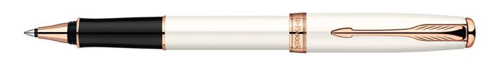 Роллер Sonnet Pearl Lacquer PGT. PARKER-S0947380PP-220Ручка-роллер «Паркер Соннет Перл Лак Пи Джи Ти». Инструмент для письма, линия письма –тонкая, цвет чернил – черный, в подарочной упаковке. Произведено во Франции.