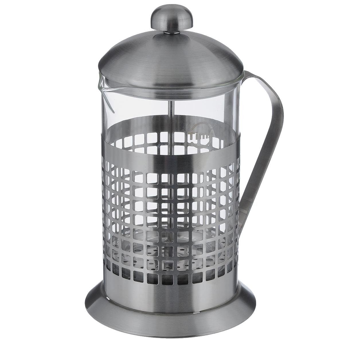Чайник заварочный TimA Бисквит, 800 млPB-800Чайник заварочный TimA Бисквит выполнен в виде френч-пресса и представляет собой гибрид заварочного чайника и кофейника. Колба выполнена из жаропрочного стекла, корпус, крышка и поршень изготовлены из нержавеющей стали. Изделие легко разбирается и моется. Прозрачные стенки чайника дают возможность наблюдать за насыщением напитка, а поршень позволяет с легкостью отжать самый сок от заварки и получить напиток с насыщенным вкусом. Заварочный чайник - постоянно используемый предмет посуды, который необходим на каждой кухне. Френч-пресс TimA Бисквит займет достойное место среди аксессуаров на вашей кухне. Можно мыть в посудомоечной машине. Диаметр (по верхнему краю): 10 см. Высота чайника (с крышкой): 22 см. Объем: 800 мл.