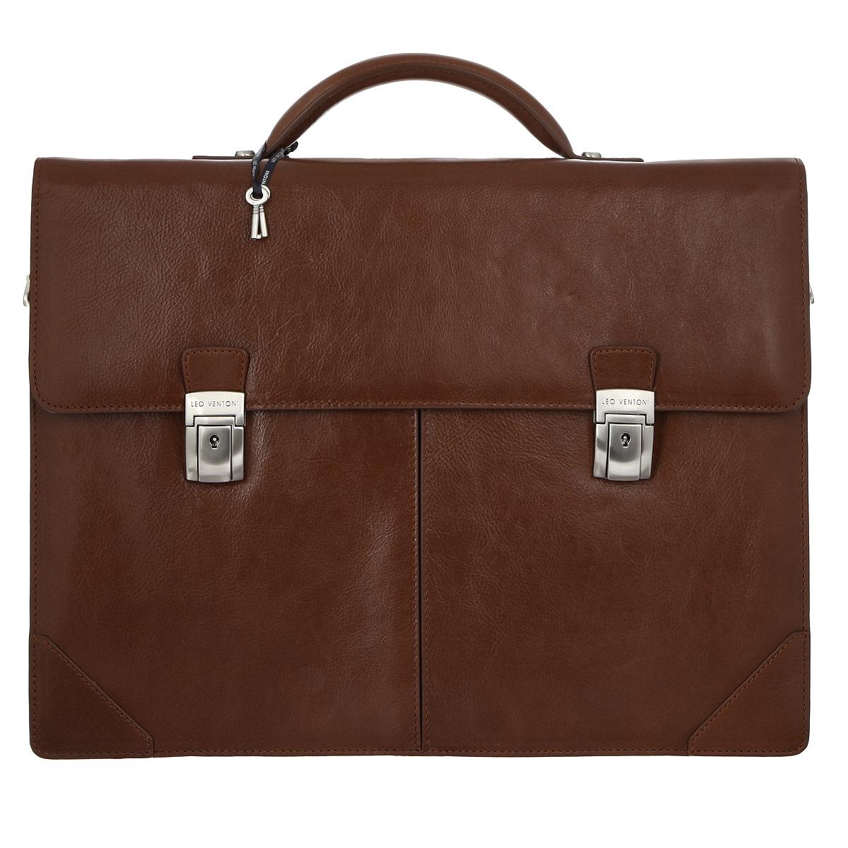 Портфель мужской Leo Ventoni, цвет: коричневый. 03002184-06