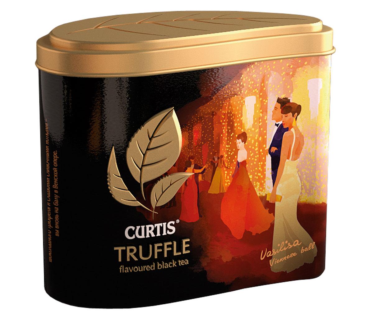 Curtis Truffle Black Tea черный листовой чай, 80 г512711Curtis Truffle Black Tea - это крупнолистовой цейлонский черный чай со вкусом трюфеля. Шоколадный бархатный вкус черного чая с тонкой сливочной нотой и зернами какао погрузит в сладкие мечты. Окунитесь в мир соблазна с чаем Curtis Truffle Black Tea.