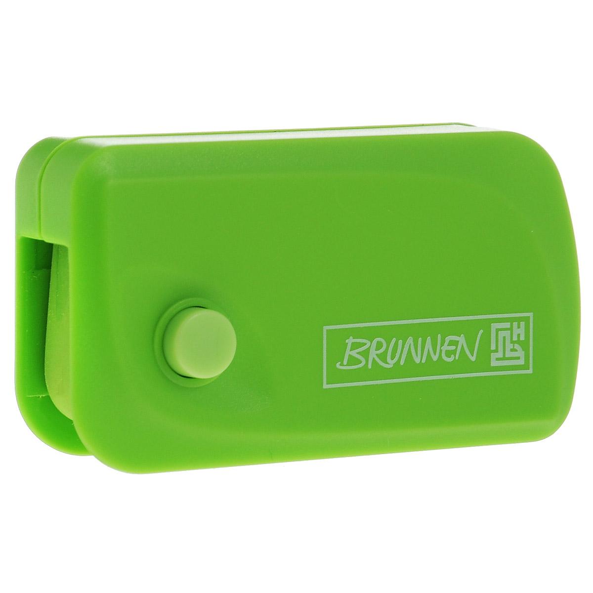 Brunnen Ластик Клик, цвет: зеленыйFS-36054Автоматический ластик Brunnen Клик станет незаменимым аксессуаром на рабочем столе не только школьника или студента, но и офисного работника. Ластик в пластиковом прямоугольном корпусе зеленого цвета. На корпусе имеются отверстия для подвесок и брелоков. Ластик выдвигается из корпуса с приятным приглушенным щелчком (сбоку на корпусе есть кнопка для выдвижения ластика).Выдвигающийся ластик имеет прямоугольную форму со слегка закругленным одним краем.