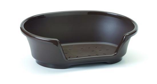 Лежак пластиковый COSY AIR 38см коричневый3250-0018