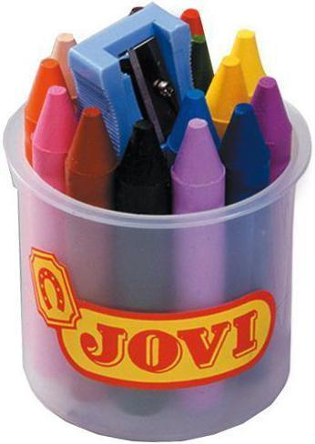 Карандаши восковые Jovi, 16 цветов, с точилкой610842Восковые карандаши Jovi - отличный вариант для развития наглядно-образного мышления, воображения, мелкой моторики рук, творческих и художественных способностей, а также усидчивости и аккуратности. Карандаши изготовлены на основе полимерных восков, натуральных наполнителей и высококачественных пигментов. Они не пачкают руки малыша, они мягкие, прочные и не имеют запаха. Восковые карандаши отличаются яркими и насыщенными цветами, позволяют проводить мягкие и ровные штрихи. Порадуйте своего ребенка таким замечательным подарком!