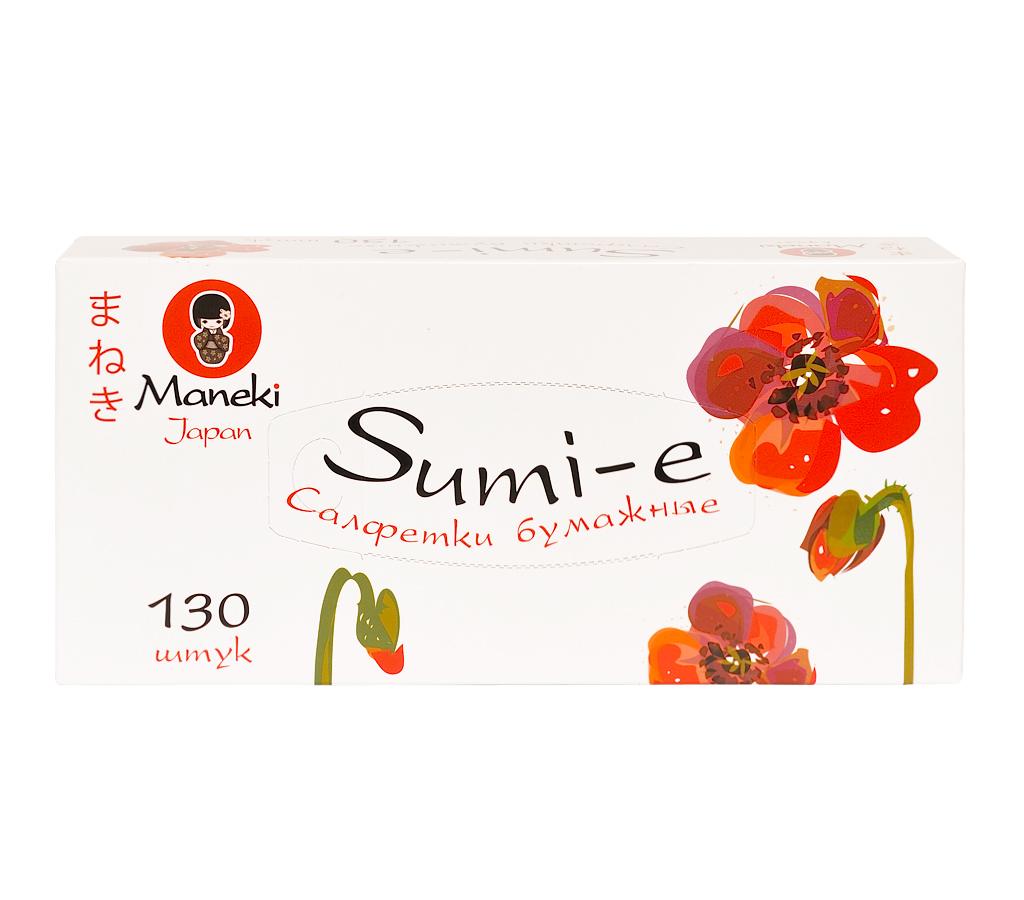 Салфетки бумажные Maneki, серия Sumi-e, 2 слоя, белые, 130 шт.FT142Салфетки бумажные 2-х слойные произведены из 100% целлюлозы. Салфетки хорошо впитывают влагу и не оставляет «бумажной» пыли. Салфетки мягкие и шелковистые, не вызывают раздражения кожи, подходят для косметических целей. Отдушка нежно пахнет перфорирована не вызывает аллергических реакций. Материал: целлюлоза; цвет: белый