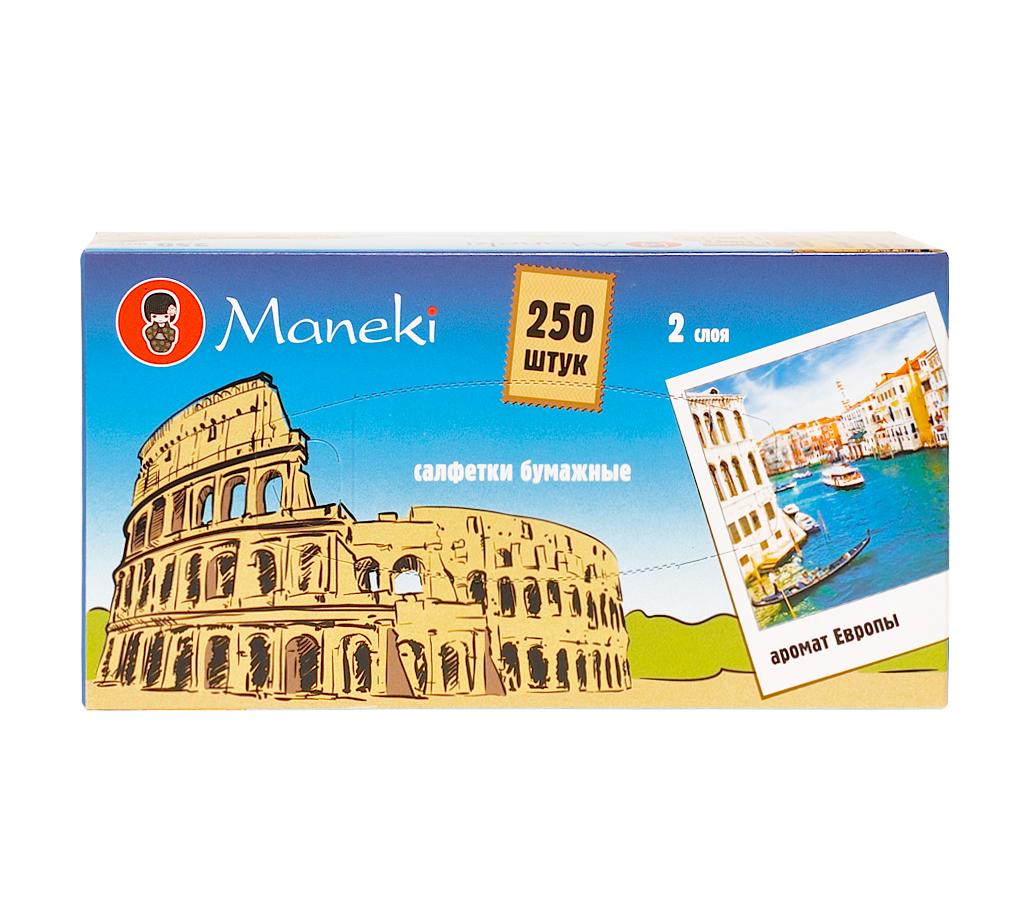 Салфетки бумажные Maneki Италия, 250 шт200066297Бумажные салфетки Maneki Италия с микротиснением созданы из 100% органической целлюлозы. Это экологически чистый продукт, не содержит хлора. Салфетки хорошо впитывают влагу и не оставляют бумажной пыли. Удивительно нежная и шелковистая поверхность салфеток позволяет использовать их даже на самой чувствительной коже и в косметических целях. Салфетки хранятся в картонном боксе с красочным изображением итальянских достопримечательностей. Размер листа: 21 х 19,6 см. Количество слоев: 2. Количество листов: 500. Количество салфеток: 250 шт.
