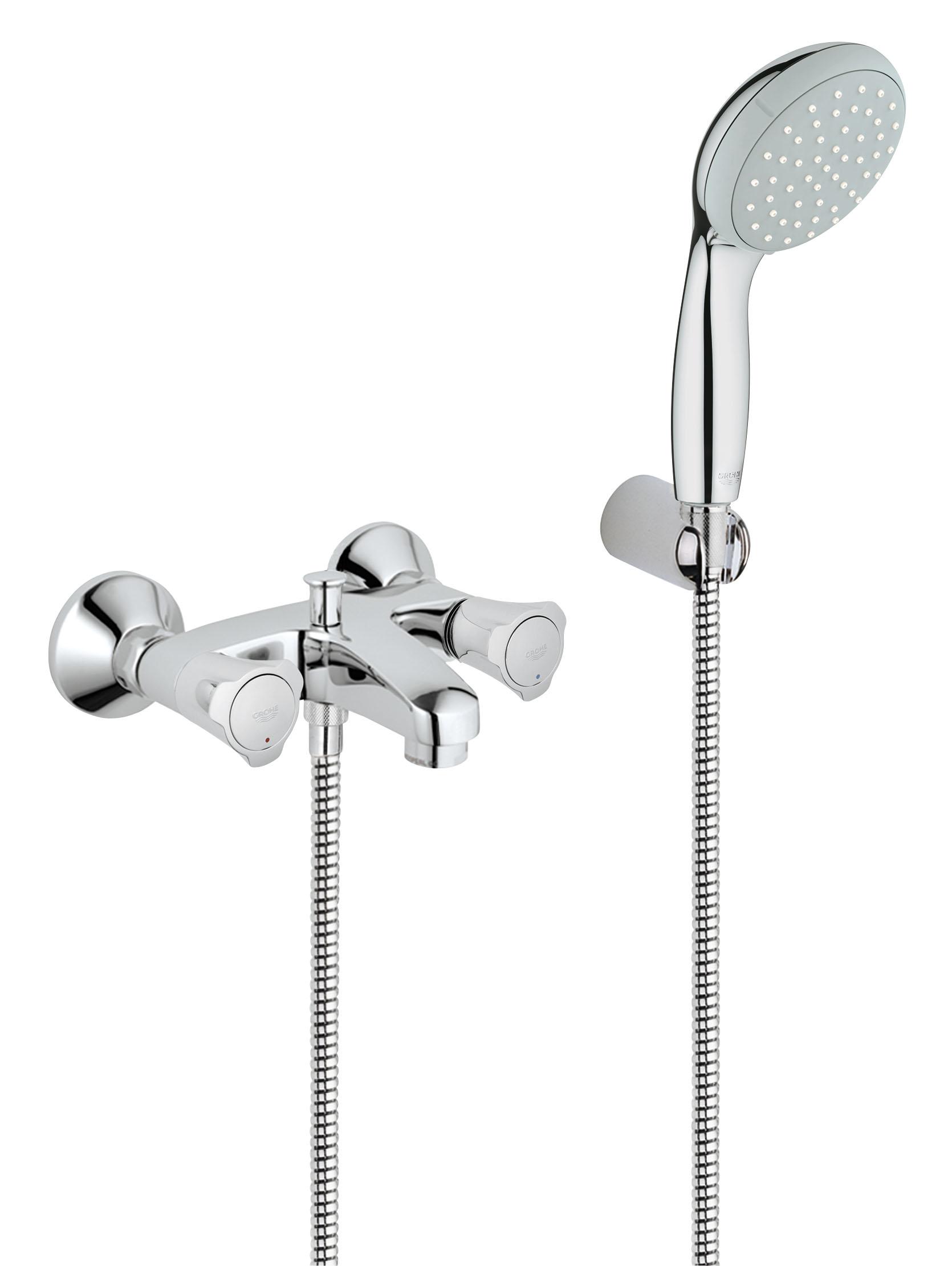 Смеситель для ванны GROHE Costa L с душевым набором (25460001)68/5/3Настенный монтаж Металлические рукоятки С теплоизоляцией Привинчивающаяся Вентиль Longlife с резиновым уплотнением Автоматический переключатель: ванна/душ Аэратор Скрытые S-образные эксцентрики С душевым гарнитуром Включает в себя: Ручной душ New Tempesta 100, один вид струи, 9,5 l/мин (27 923 000) Настенный держатель ручного душа (28 605 000) Душевой шланг Relexaflex 1500 мм 1/2? x 1/2? (28 151 000) GROHE StarLight хромированная поверхность Видео по установке является исключительно информационным. Установка должна проводиться профессионалами!