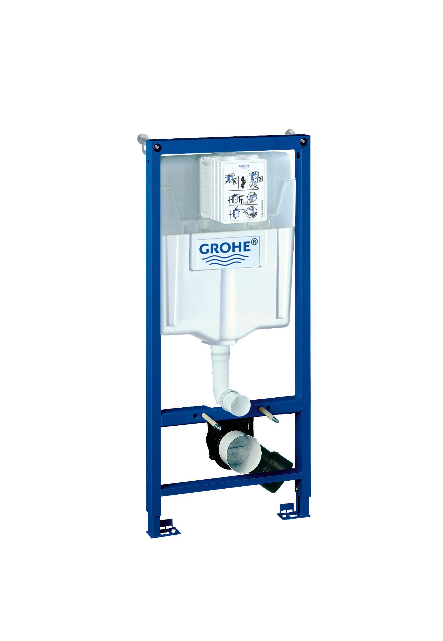 Система инсталляции для унитаза GROHE Rapid SL (1,13 м) (38536001)38536001Смывной бачок GD 2 С маленьким ревизионным окошком Монтажная высота 1,13 м Для монтажа перед стеной или стеной перегородкой Самонесущая стальная рама с Порошковым напылением Подготовлена для облицовки Фиксированные подключения Для одиночного или рядного монтажа Быстрая регулировка по высоте Крепежный материал Проверено -TUEV 2 болта-держателя для унитаза Крепление для керамики Расстояние между болтами 180/230 мм Выходной патрубок для унитаза O 90 мм Регулировка глубины монтажа Редуктор O 90/110 мм Впускной и смывной гарнитуры Смывной бачок GD 2, 6 - 9 л Заводская настройка 6 л и 3 л Пневматический смывной клапан с тремя режимами Слива: 2-х объёмный, старт/стоп, или непрерывный Подключение воды слева, справа и сзади Арматурная группа I В соответствии с DIN С изоляцией от конденсационной влаги Подключение воды DN 15 Для вертикального или...