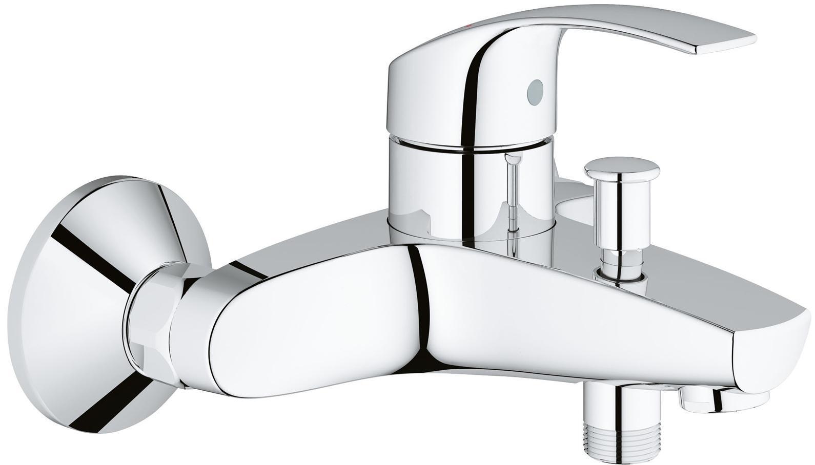 Смеситель для ванны GROHE Eurosmart New, хром33300002GROHE Eurosmart: смеситель для ванны, с которым купание будет приносить удовольствие Этот смеситель для ванны оснащен автоматическим переключателем «ванна-душ», а также встроенным ограничителем температуры, предотвращающим ошпаривание. Технология GROHE SilkMove обеспечивает плавность и легкость регулировки температуры и напора воды, позволяя Вам наслаждаться полным расслаблением при принятии душа. Благодаря долговечному хромированному покрытию GROHE StarLight, этот смеситель из коллекции Eurosmart станет эффектным дополнением к оснащению Вашей ванной комнаты и будет радовать Вас неприхотливостью в уходе. Особенности: Настенный монтаж Металлический рычаг GROHE SilkMove керамический картридж 35 мм С ограничителем температуры Регулировка расхода воды GROHE StarLight хромированная поверхность Автоматический переключатель: ванна/душ Встроенный обратный клапан в душевом отводе 1/2? Аэратор Скрытые S-образные эксцентрики Отражатели...