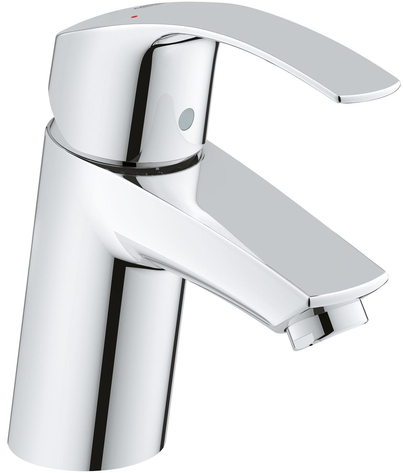 Смеситель для раковины GROHE Eurosmart New с низким изливом, хром32467002GROHE Eurosmart: смеситель для раковины в обтекаемом корпусе с износостойким глянцевым покрытием Если Вам необходим смеситель для ванной комнаты без встроенных сливных механизмов, Вам подойдет данная модель с цельным корпусом без штоков и цепочек. Хромированное покрытие GROHE StarLight придает смесителю роскошный блеск, подчеркивающий его лаконичный и эффектный дизайн. Картридж с прогрессивной технологией GROHE SilkMove сообщает рычагу чрезвычайно плавный ход, который сохраняется даже после многих лет интенсивной эксплуатации. Водосберегающий механизм GROHE EcoJoy обеспечивает экономию воды, достигающую 50%. Система упрощенного монтажа поможет установить смеситель и подготовить его к работе с минимальными затратами времени. Особенности: Монтаж на одно отверстие Металлический рычаг GROHE SilkMove керамический картридж 35 мм С ограничителем температуры Регулировка расхода воды GROHE StarLight хромированная поверхность GROHE EcoJoy 5.7 л/мин ...