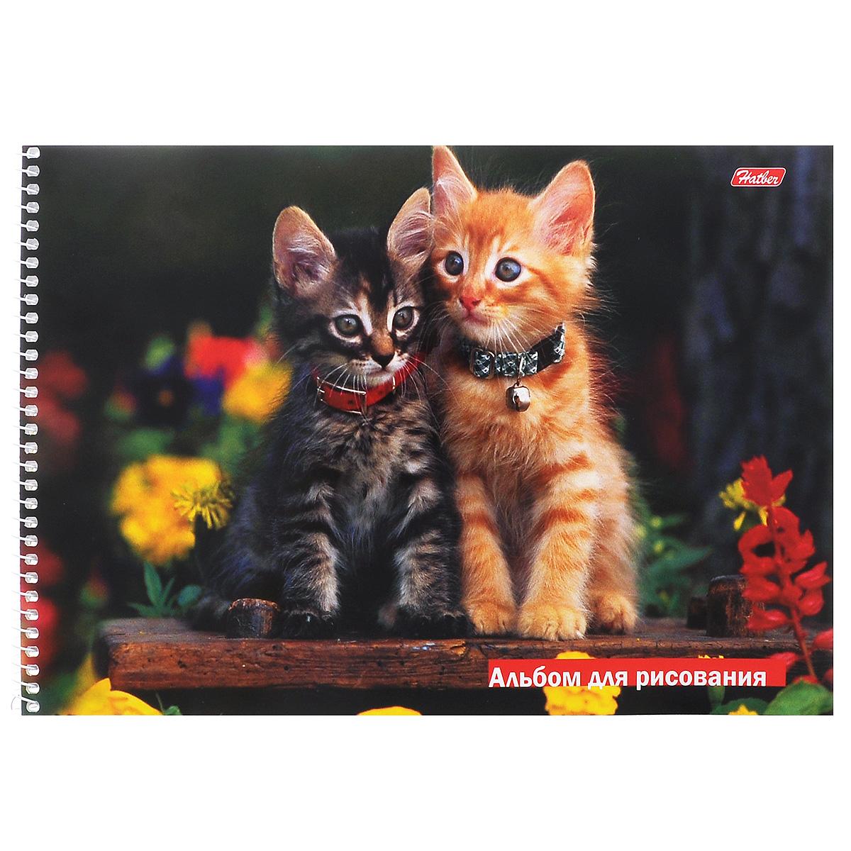 Hatber Альбом для рисования Зверье мое: Котята, 32 листа. 32А4Bсп_0842302656Альбом для рисования на боковой спирали Hatber Зверье мое: Котята непременно порадует маленького художника и вдохновит его на творчество.Альбом изготовлен из белоснежной офсетной бумаги с яркой обложкой из мелованного картона, оформленной изображением двух очаровательных котят. Внутренний блок альбома состоит из 32 листов бумаги, которые снабжены микроперфорацией и являются отрывными.Высокое качество бумаги позволяет рисовать в альбоме карандашами, фломастерами, акварельными и гуашевыми красками.Рекомендуемый возраст: 0+.