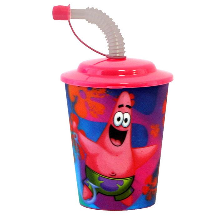 Губка Боб Стакан 3D, с крышкой и трубочкой, цвет: розовый, 400 мл110060Стакан Губка Боб с 3D рисунком выполнен из высококачественного полипропилена, что очень удобно и безопасно для детей, так как этот материал не бьется. Внешние стенки оформлены объемным изображением героев мультсериала Губка Боб. Стакан плотно закрывается крышкой с отверстием в центре для толстой гофрированной соломинки. Для трубочки предусмотрен специальный колпачок, что исключает попадание пыли и грязи в содержимое стакана.Теперь пить любимые напитки из такого стаканчика станет еще вкуснее.