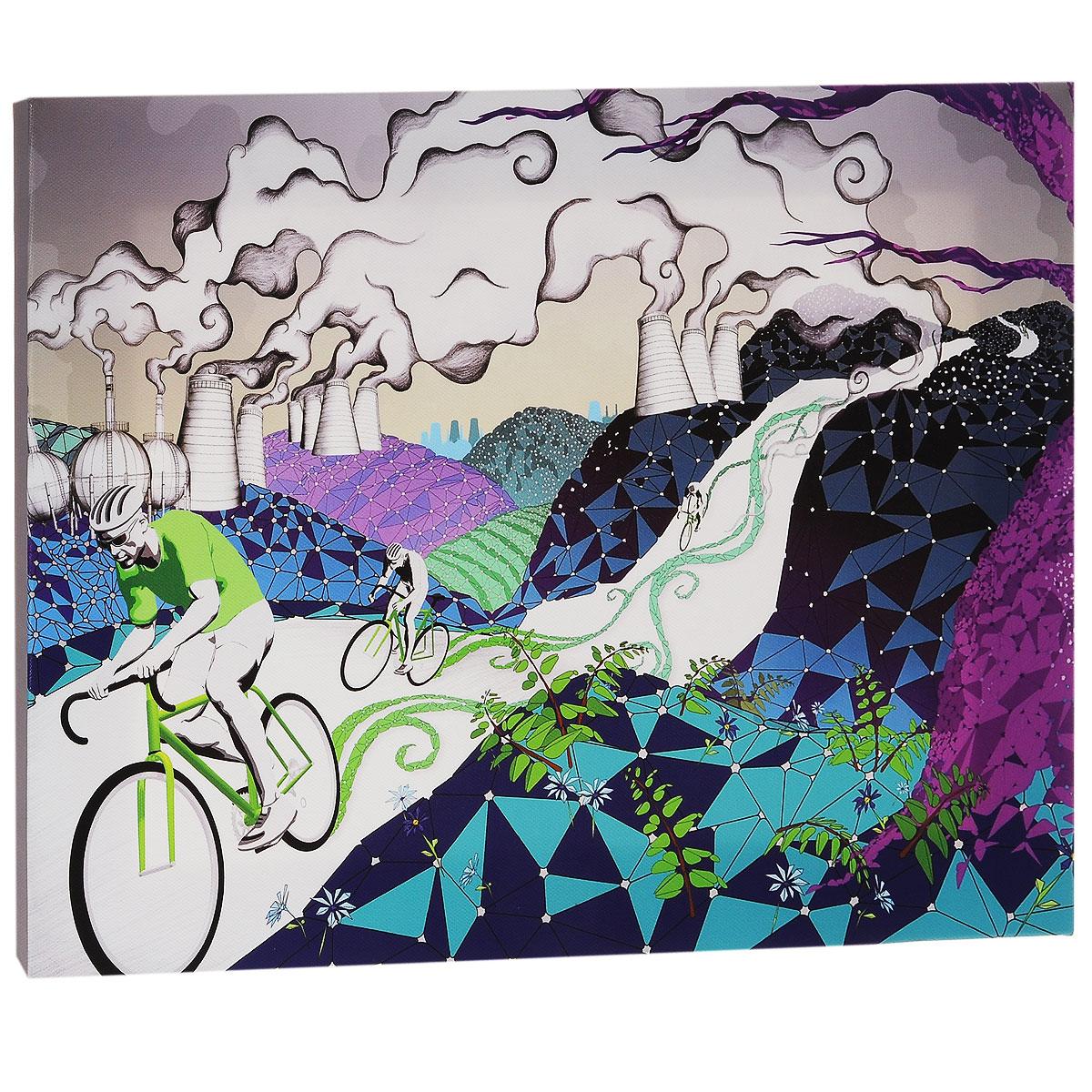 КвикДекор Картина на холсте Велосипеды, 40 см х 30 смAP-00666-21499-Cn4030Картина на холсте КвикДекор Велосипеды - это прекрасное украшение для вашей гостиной или спальни. Она привнесет в интерьер яркий акцент и сделает обстановку комфортной и уютной. A.k.A - лондонская студия-бутик, включающая в себя творческую группу художников, которые часто работают в тесном сотрудничестве друг с другом. Их работы были отмечены по всему миру для таких крупных компаний, как Dreamworks, Pepsi, Random House, Ford, Avia, Mazda, Future, TIME, Phillip Morris, Bacardi и многие другие. Студия A.k.A была даже номинирована на Оскар, как независимая студия анимации в Лондоне. Их работы создаются с помощью сочетания фотографий, 3D-моделирования, обработки в Photoshop, традиционного ретуширования, рисунка карандашом, векторной графики и пера и чернил. Этот уникальный и многоплановый стиль делает студию A.k.A выдающейся. Работы художников-дизайнеров студии сразу бросаются в глаза и мало кого оставляют равнодушными. Картина на холсте КвикДекор Велосипеды не нуждается...