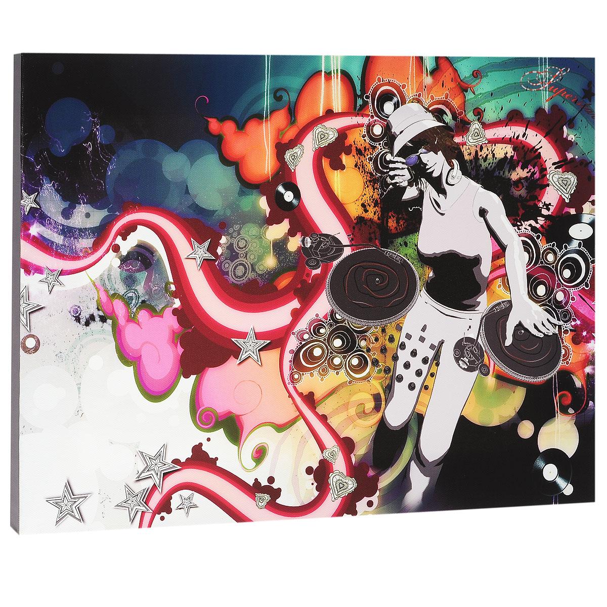 КвикДекор Картина на холсте Диджей, 40 см х 30 смES-412Картина на холсте КвикДекор Диджей - это прекрасное украшение для вашей гостиной или спальни. Она привнесет в интерьер яркий акцент и сделает обстановку комфортной и уютной. A.k.A - лондонская студия-бутик, включающая в себя творческую группу художников, которые часто работают в тесном сотрудничестве друг с другом. Их работы были отмечены по всему миру для таких крупных компаний, как Dreamworks, Pepsi, Random House, Ford, Avia, Mazda, Future, TIME, Phillip Morris, Bacardi и многие другие. Студия A.k.A была даже номинирована на Оскар, как независимая студия анимации в Лондоне. Их работы создаются с помощью сочетания фотографий, 3D-моделирования, обработки в Photoshop, традиционного ретуширования, рисунка карандашом, векторной графики и пера и чернил. Этот уникальный и многоплановый стиль делает студию A.k.A выдающейся. Работы художников-дизайнеров студии сразу бросаются в глаза и мало кого оставляют равнодушными. Картина на холсте КвикДекор Диджей не нуждается в рамке или багете - галерейная натяжка холста на подрамники выполнена очень аккуратно, а боковые части картины запечатаны продолжением картинки либо тоновой заливкой. На обратной стороне подрамника есть отверстие, благодаря которому картину можно легко закрепить на стене, и подкорректировать ее положение. Картина на холсте Диджей дизайн-студии A.k.A станет отличным украшением для вашего интерьера!