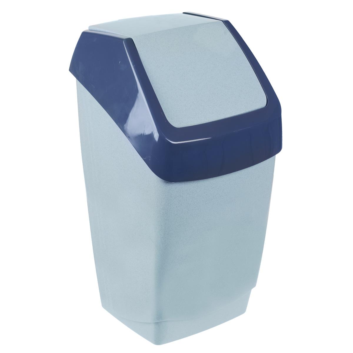 Контейнер для мусора Idea Хапс, цвет: голубой мрамор, 25 лUP210DFКонтейнер для мусора Idea Хапс изготовлен из прочного полипропилена (пластика). Контейнер снабжен удобной съемной крышкой с подвижной перегородкой. Благодаря лаконичному дизайну такой контейнер идеально впишется в интерьер и дома, и офиса.