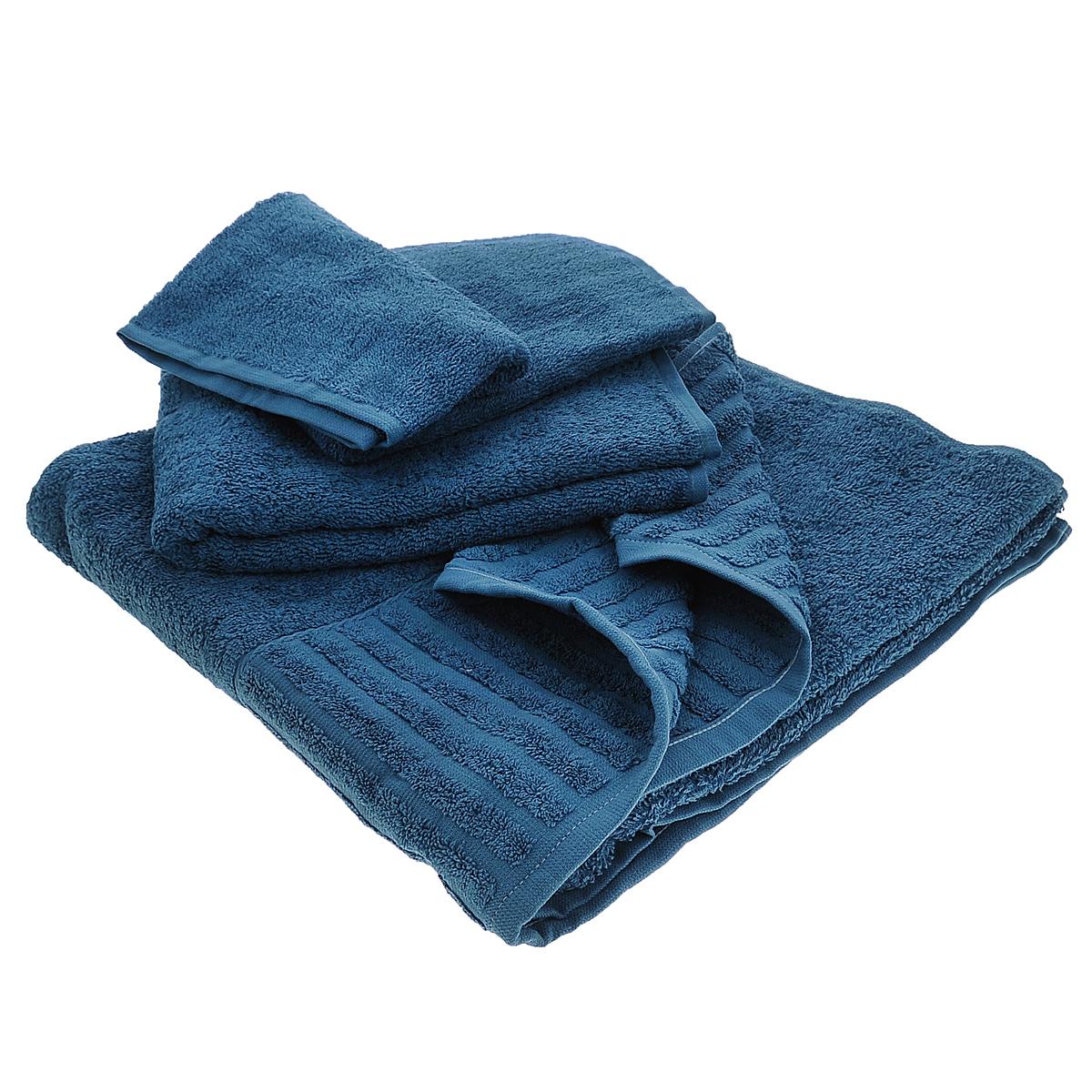 Набор махровых полотенец Bonita, цвет: черничный, 3 шт68/5/3Набор Bonita состоит из трех полотенец разного размера, выполненных из натурального хлопка. Такие полотенца отлично впитывают влагу, быстро сохнут, сохраняют яркость цвета и не теряют формы даже после многократных стирок. Полотенца очень практичны и неприхотливы в уходе. Размер полотенец: 40 см х 70 см; 50 см х 90 см; 70 см х 140 см.