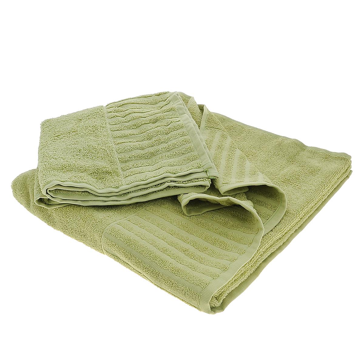 Набор махровых полотенец Bonita, цвет: оливковый, 2 шт01011116223Набор Bonita состоит из двух полотенец разного размера, выполненных из натурального хлопка. Такие полотенца отлично впитывают влагу, быстро сохнут, сохраняют яркость цвета и не теряют формы даже после многократных стирок. Полотенца очень практичны и неприхотливы в уходе. Размер полотенец: 50 см х 90 см; 70 см х 140 см.