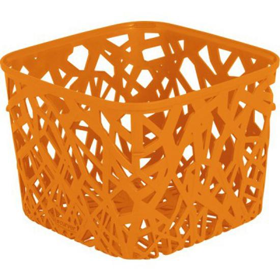 Корзинка Curver Ecolife, цвет: оранжевый, 19,2 см х 19,2 см х 14,4 смZ-0307Квадратная корзинка Curver Ecolife изготовлена из высококачественного пластика. Предназначена для хранения различных предметов в ванной, на кухне, на даче или в гараже. Стенки корзины оформлены изящной перфорацией, обеспечивающей естественную вентиляцию.