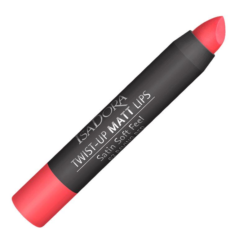 Isa Dora Помада-карандаш для губ матовая Twist-up Matt Lips № 62, 2,7гр121862Помада для губ в карандаше TWIST UP MATT. Бархатистый матовый эффект Комфортная кремовая текстура не сушит губы и укрывает их насыщенным устойчивым цветом. Удобная форма стика для аккуратного нанесения и создания четкого контура губ. Формула, насыщенная увлажняющими и защитными ингредиентами. Без отдушек. Клинически тестировано