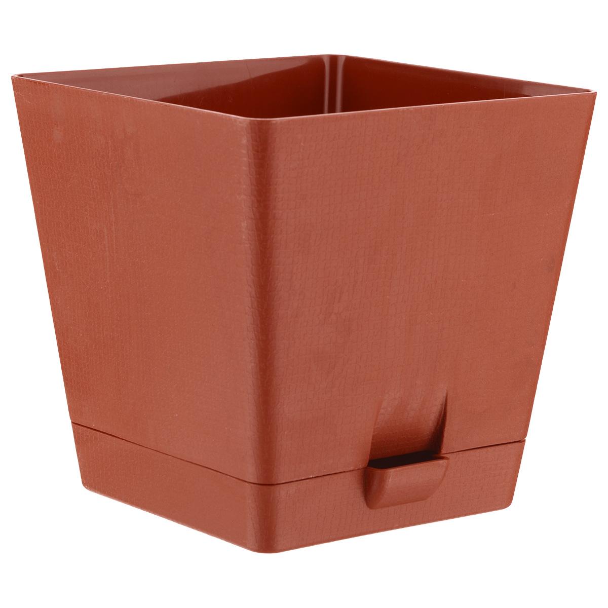 Горшок для цветов Le Parterre, с поддоном, цвет: терракотовый, 3 л212-2Горшок для цветов Le Parterre с системой прикорневого полива выполнен из полипропилена (пластика) и предназначен для выращивания в нем цветов, растений и трав. Система прикорневого полива способствует вентиляции и дренажу корневой системы растения. Такой горшок порадует вас современным дизайном и функциональностью, а также оригинально украсит интерьер помещения.