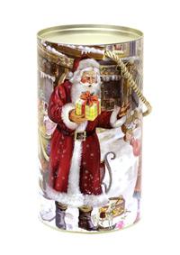 Тубус новогодний На радость детям 12*22 см золотой шнур4610009210582