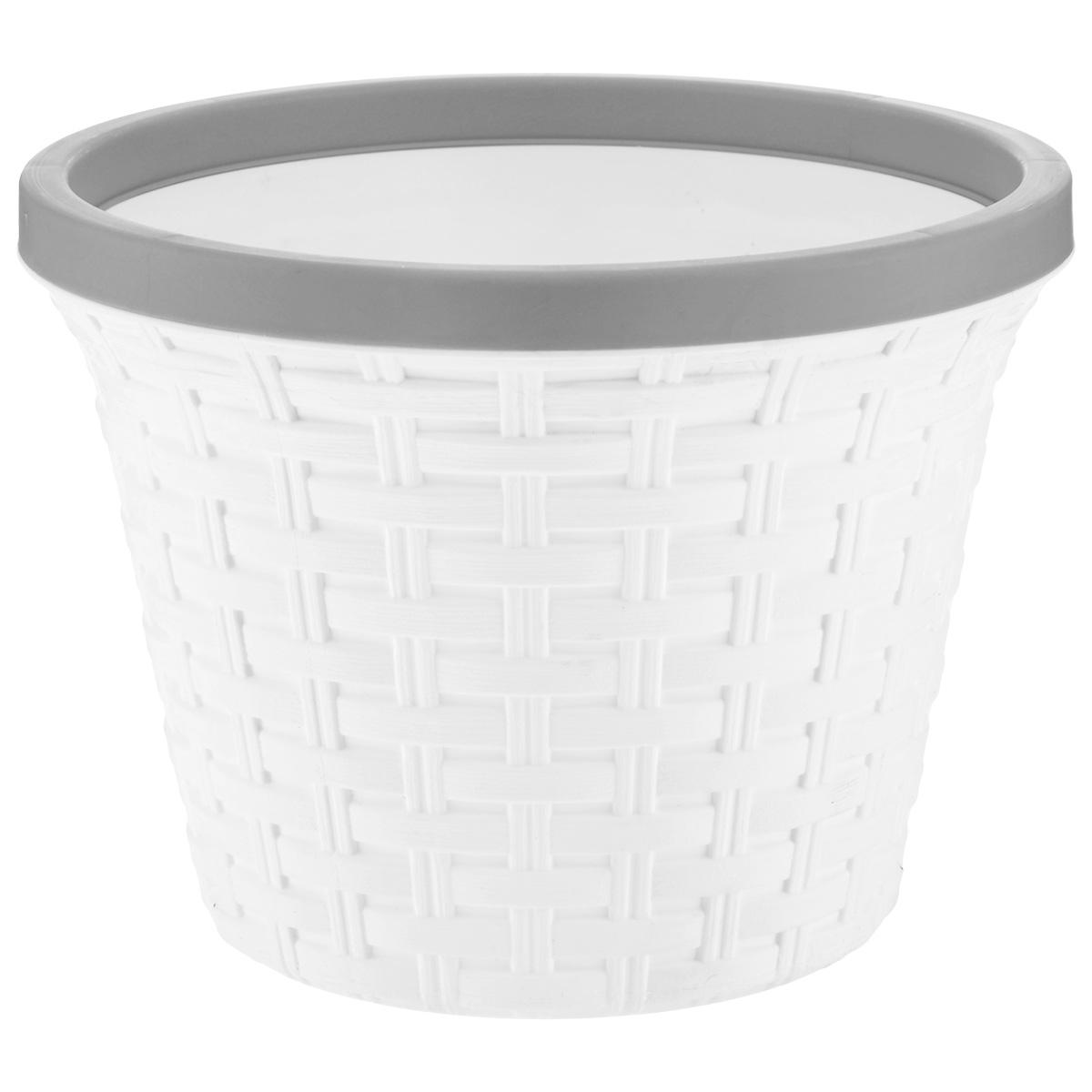 Кашпо Violet Ротанг, с дренажной системой, цвет: белый, 6,5 л32650/6Кашпо Violet Ротанг изготовлено из высококачественного пластика и оснащено дренажной системой для быстрого отведения избытка воды при поливе. Изделие прекрасно подходит для выращивания растений и цветов в домашних условиях. Лаконичный дизайн впишется в интерьер любого помещения. Объем: 6,5 л.