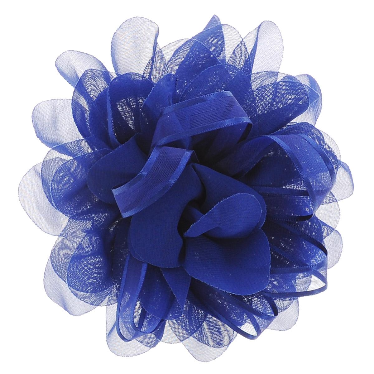Babys Joy Резинка для волос, цвет: синий. DB 355Satin Hair 7 BR730MNРезинка для волос Babys Joy выполнена в виде большого цветка из текстиля и в центре оформлена лентой из органзы. Резинка для волос Babys Joy подчеркнет красоту прически вашей маленькой модницы.